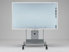RICOH Interactive Whiteboard D8400(オプションのコントローラ、別売スタンドを装着したもの)