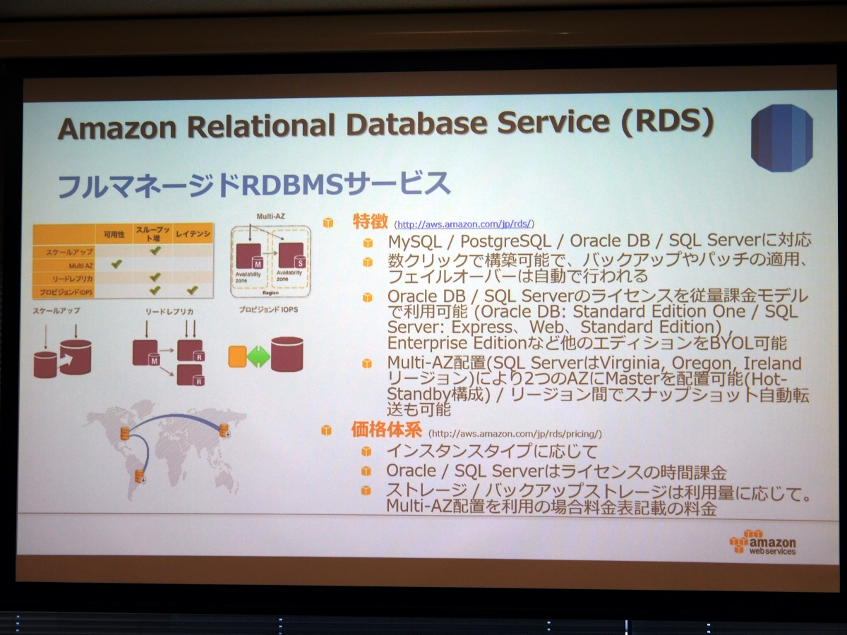 「Amazon Relational Database Services(RDS)」の概要