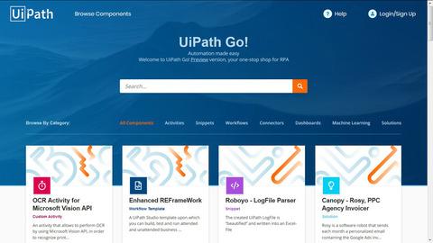 米UiPath、RPA活用を支援するマーケットプレイス「UiPath Go!」を開設