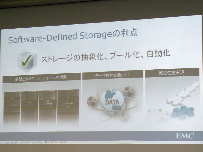 Software Defined Storageの利点
