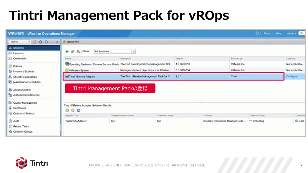 Tintri Management Pack for vRealize Operations