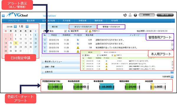 アマノ、クラウド勤務管理サービス「TimePro-VG Cloud」を4月より提供