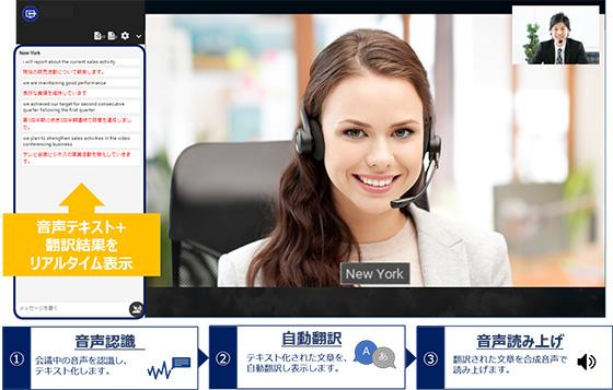 NTTビズリンク、クラウド型テレビ会議サービスで音声のテキスト化/翻訳機能を提供